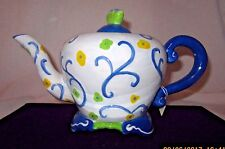 CupCakes and CartWheels Teapot Blue Spring Colors NEW! Kimberly Hodgen!