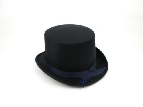 ADULT SATIN TOP HAT MAGICIAN GENTLEMAN ROARING 20S FORMAL COSTUME TUXEDO TOP HAT