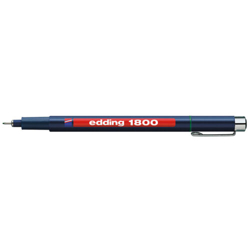 Edding 1800 Faserzeichner 0.5 mm Profipen Präzisionsfeinschreiber Pigmentmarker