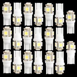 20-pcs-T10-194-168-W5W-5-5050-SMD-LED-Ampoule-Xenon-Blanc-Auto-Feu-arriere-WT