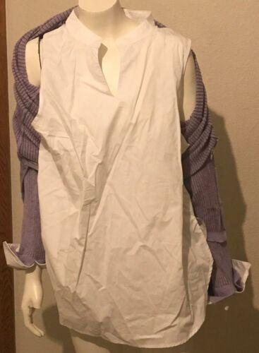 pourpre Democracy maille XL New mauve Nl 88 et R Layered Tunique Sweater blanche en 6xxz1nwH