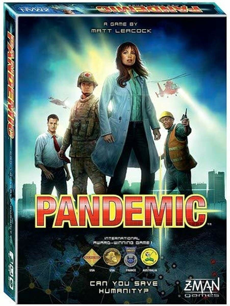Pandemic Z-Man Board Game Cure and Stop World Wide Spreading Diseases Team Play