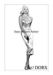 Vintage Marilyn Monroe Sewing Pattern Wiggle Mermaid Dress Bullet Bra 1950