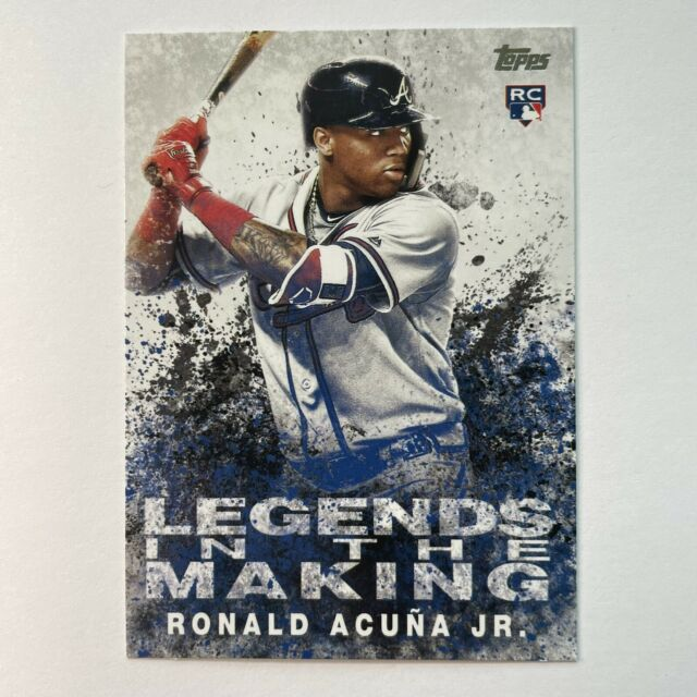 Ronald Acuna Jr. 2018 Topps Update Legends In The Making Rookie Card RC