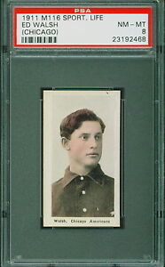1911-M116-Sporting-Life-Baseball-Ed-Walsh-PSA-8-WHITE-SOX-HOF-NM-MT-POP-5