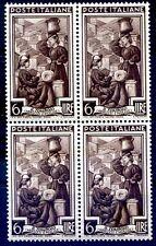 ITALIA 1950 - LAVORO Lire 6  QUARTINA NUOVA **