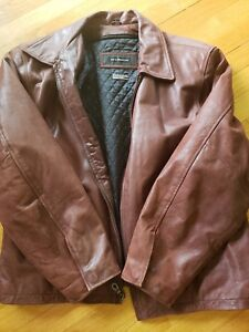 2e3f779c263 Jim and MaryLou Men s Brown Leather Zipper front Jacket Size L with ...