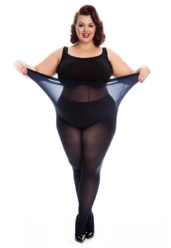 All Woman Plus Size XXL Extra Large 50 Denier Thick Coloured Tights UK 20-36