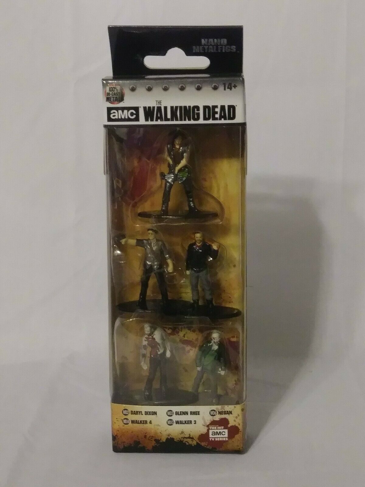 NEW The Walking Dead Nano Metal Figs Daryl Dixon, Glenn Rhee, Negan, Walker 3&4