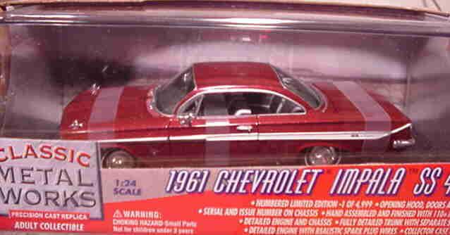 1961 Chevy Impala Honduras rot 1 24 Classic Metal Works 10107