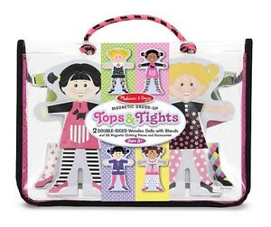 NEW-Melissa-Doug-Tops-and-Tights-Magnetic-Dress-Up-Puzzle-Toy-NIP