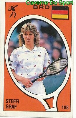 193 STEFAN EDBERG SWEDEN TENNIS STICKER SUPERSPORT 1988 PANINI RARE /& NEW
