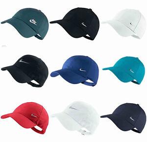 d9a619cd266 Nike Mens Swoosh Metal Sports Cap Baseball Golf Adjustable Hat Black ...