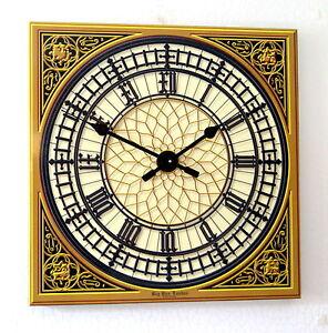 London-BIG-BEN-Westminster-Melodie-Schlagwerk-Wanduhr-3D-Wohnzimmeruhr-Uhr-45cm