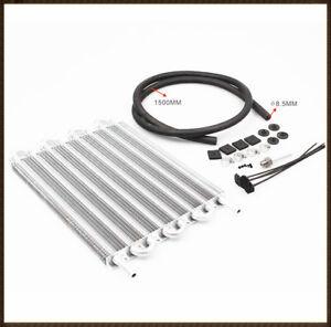 8-Row-Remote-Transmission-Oil-Cooler-Auto-Manual-Radiator-Converter-Aluminum