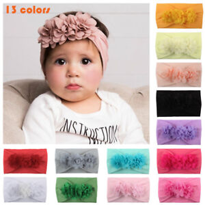 Kid-Girl-Baby-Headband-Toddler-Lace-Bow-Flower-Hair-Band-Accessories-Headwear
