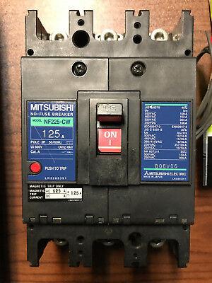 MITSUBISHI NF225-CW NO-FUSE BREAKER 125A 3P 50//60HZ NF225CW
