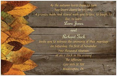 30 50 80 100 Country Rustic BARNWOOD /& LACE 6x9 PERSONALIZED WEDDING Invitation