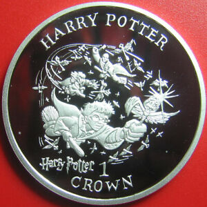 2001-ISLE-OF-MAN-1-CROWN-SILVER-PROOF-HARRY-POTTER-GOLDEN-SNITCH-QUIDDITCH-GAME