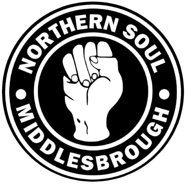 Middlesbrough - Northern Soul - car / Autocollant de Fenêtre + 1 Gratuit