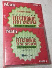 Harcourt Math Electronic Test System Practice & Assesment Grade 4 PC MAC CD exam