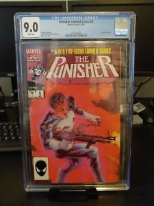 Marvel's Punisher #5 Limited Series (May 1986, Marvel Comics) CGC 9.0 Mike Zeck