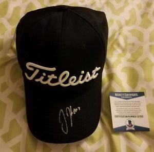 Justin Thomas Signed Titleist Golf Hat Beckett   BAS  E21352 coa ... 5d2057ac12a2