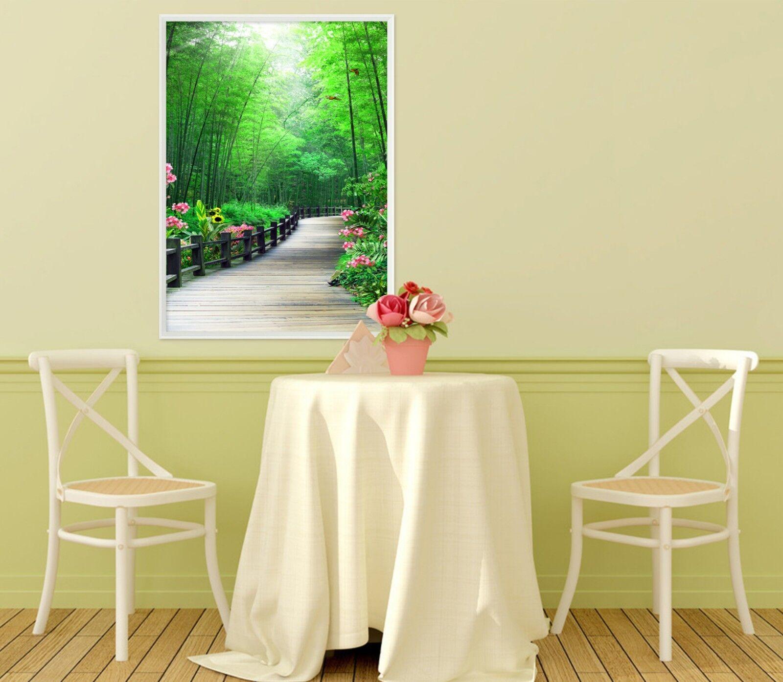 3D Bamboo Forest Park 5 Framed Poster Home Decor Print Painting Art AJ UK