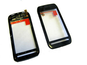 Details about Nokia 603 N603 Touch Screen Digitizer Lens Panel + Full Front  Frame Black UK