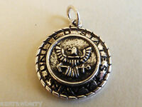 Silver Tone Metal Collectible Us Military Us Navy Charm Or Pendant