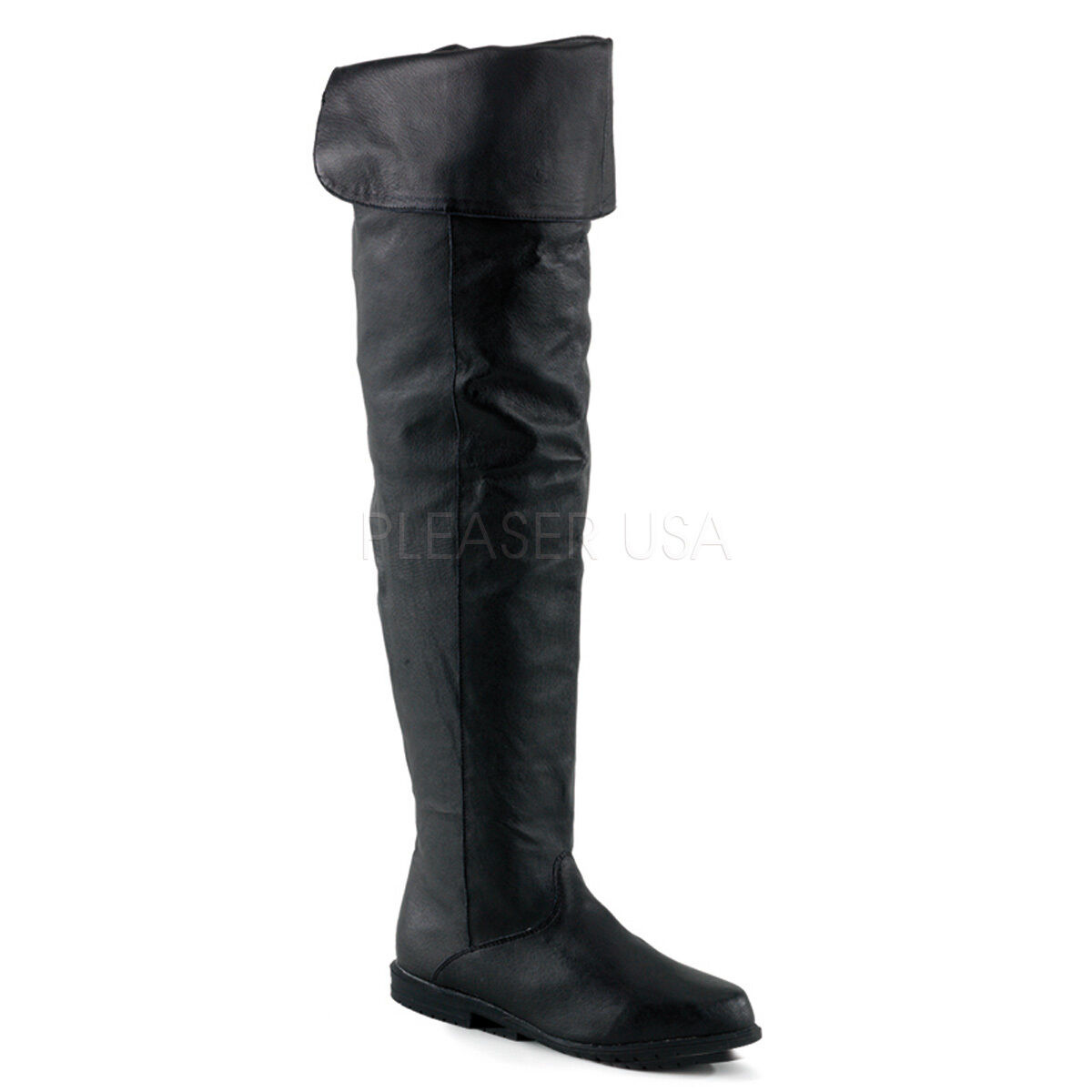 Renaissance Pirate Leather Halloween Women's Costume Thigh Boots RAV8826 B LE