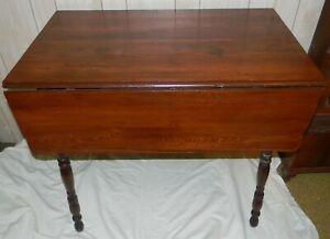Details about ANTIQUE FARM HOUSE SMALL KITCHEN PINE TOP DROP LEAF TABLE  RESTORED NICE PATINA