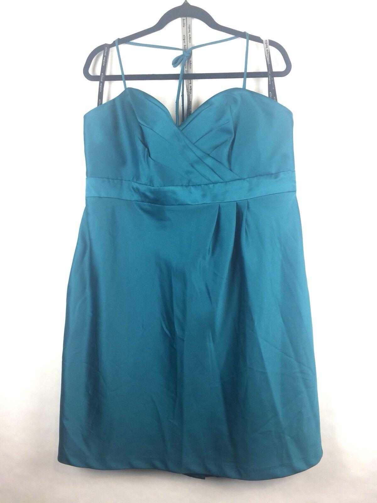 "@ Alfred Angelo Womens Bridesmaid Dress Formal 20W ""Tealness"" Sweetheart (BK2.5"