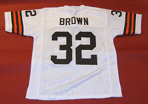 reputable site 52cec 48a2e Details about JIM BROWN CUSTOM CLEVELAND BROWNS W JERSEY