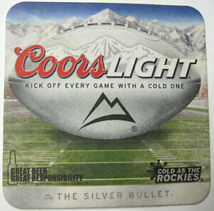 COORS-LIGHT-KICK-OFF-EVERY-GAME-w-COLD-ONE-Coaster-MAT-Golden-COLORADO-2013