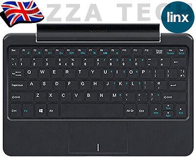 """LINX 1010 Regno Unito Tastiera QWERTY DOCK NERO CON TOUCH PAD TABLET 10/"""" pollici"""
