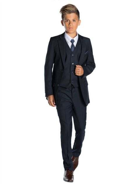 8381b55e769f Paisley of London Boys Navy Suit Slim Fit Prom Suits 12-18 Months ...