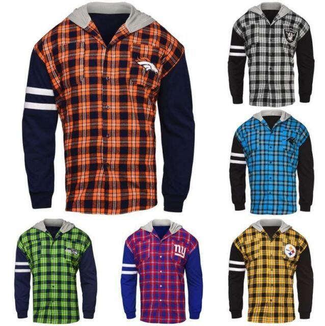 NFL Flannel Hooded Jacket