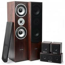 New Fenton 5.0 Walnut Surround Sound Home Cinema Hi fi Speakers System 1150W