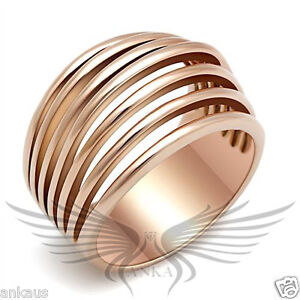 Women-039-s-Rose-Gold-Plated-Classy-Fashion-Ring-No-Stone-GL159