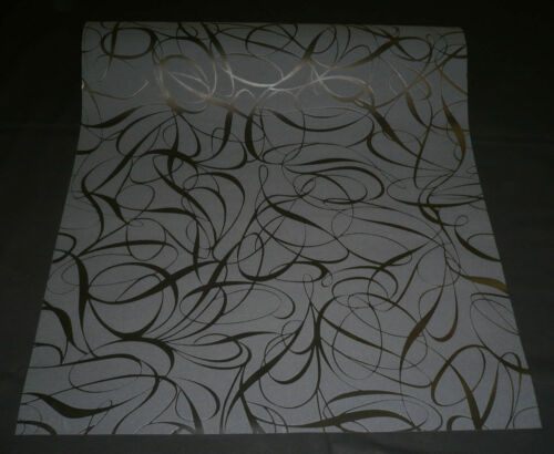 1320-62 1 Rolle hochwertige DESIGN Vliestapete Tapete schwarz mit Glanzeffekt