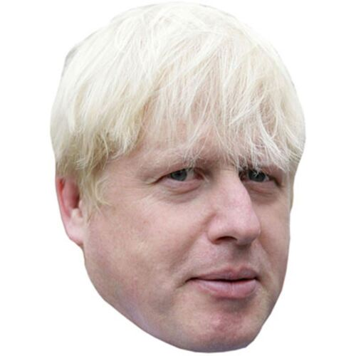 Boris Johnson Celebrity Mask Card Face and Fancy Dress Mask