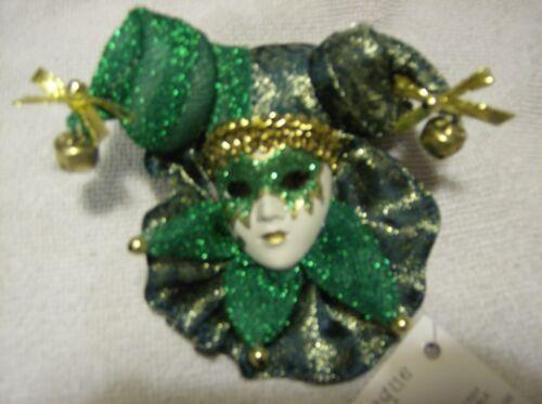 Maschera Veneziana Masquerade Carnival PIASTRA A PARETE VERDE SCURO