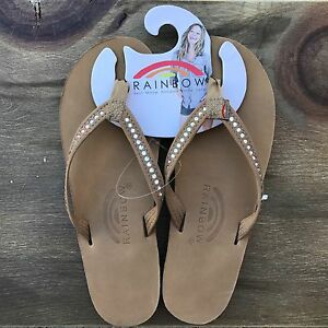 ce8cfb632acb Image is loading Womens-Rainbow-Sandals-Sierra-Brown-Premier-Leather-w-