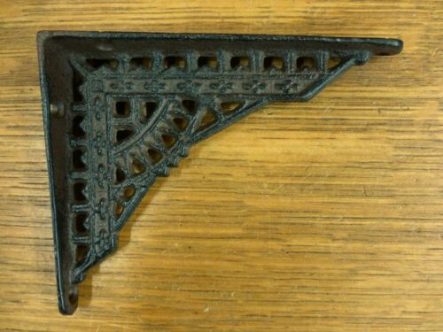 "8 SMALL BROWN ANTIQUE-STYLE 5/"" SHELF BRACKETS CAST IRON garden rustic EASTLAKE"