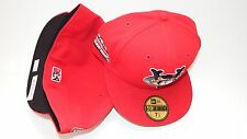 NEW ERA HAT CAP FITTED Tri-City Valley Cats MINOR LEAGUE SIZE 7 5/8 RED WHITE