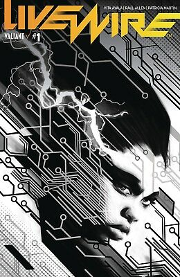 Livewire #1 Cvr D 1 In 20 Copy Incv B&w Pollina Valiant Eb01 Modern Age (1992-now) Other Modern Age Comics