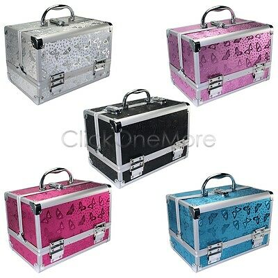 Aluminum Beauty Box Cosmetic Make Up Jewellery Saloon Case