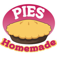Pies Homemade Concession Decal Sign Cart Trailer Stand Sticker Equipment