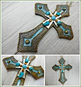 Western Cross Ornament  Western Cross Christmas Ornament  Cross Ornament  Western Ornament  Wood Cross  Personalized Cross Ornament